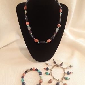 Carolyn Pollack Necklace and 2 Bracelets